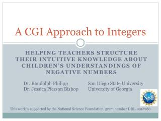 A CGI Approach to Integers