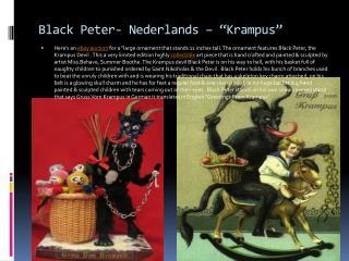 """Black Peter- Nederlands  – """" Krampus """""""