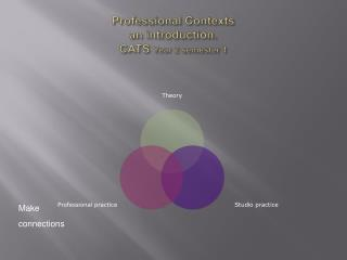 Professional Contexts an introduction. CATS  Year 2 semester  1