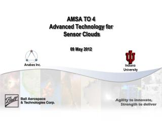 AMSA TO 4 Advanced Technology for  Sensor Clouds  09 May 2012