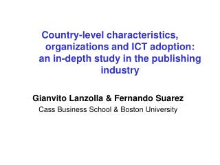Country-level characteristics, organizations and ICT adoption: an in-depth study in the publishing industry