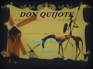 Don  Quijote Por  Miguel de  Cervantes  de  Saavedra