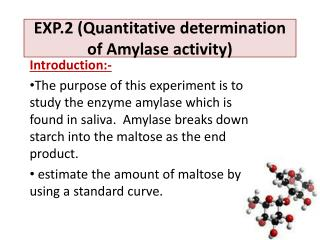 EXP.2 (Quantitative determination of Amylase activity)
