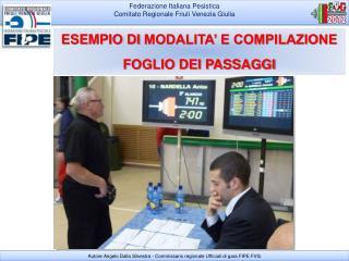 Federazione Italiana Pesistica Comitato Regionale Friuli Venezia Giulia