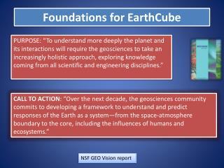 F oundations  for EarthCube