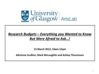 Research Budgets – Everything you Wanted to Know But Were Afraid to Ask…!
