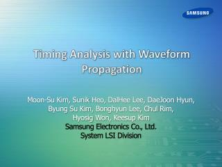Timing Analysis with Waveform Propagation