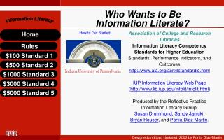 Who Wants to Be Information Literate