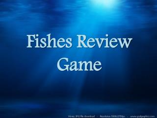 Fishes Review Game