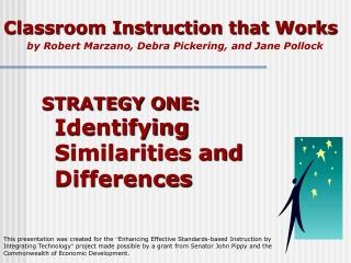 Classroom Instruction that Works by Robert Marzano, Debra Pickering, and Jane Pollock