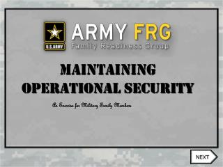 Maintaining Operational security