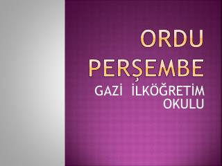 ORDU PERŞEMBE