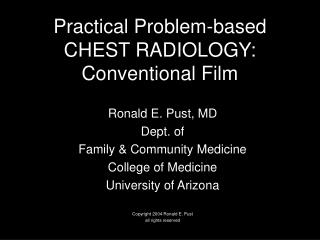 Practical Problem-based CHEST RADIOLOGY: Conventional Film