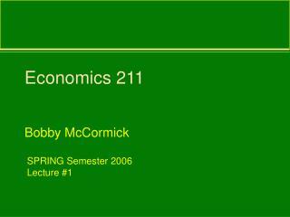 Economics 211