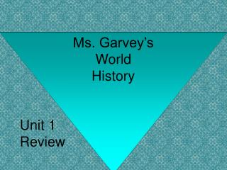 Ms. Garvey's World History