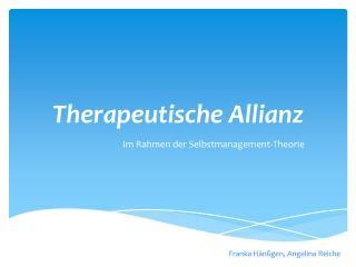 Therapeutische Allianz