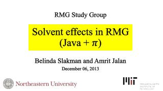 Solvent effects in RMG  (Java +  )