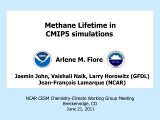 Methane Lifetime in  CMIP5 simulations