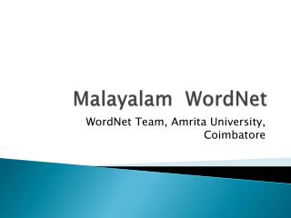 Malayalam   WordNet