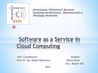 Software as a Service in Cloud Computing