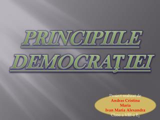 PRINCIPIILE DEMOCRA ? IEI