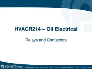 HVACR214 – Oil Electrical