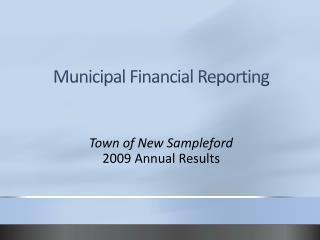 Municipal Financial Reporting