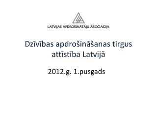 Dzīvības apdrošināšanas tirgus attīstība Latvijā