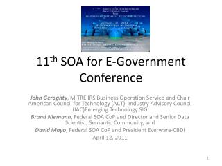 11 th  SOA for E-Government Conference
