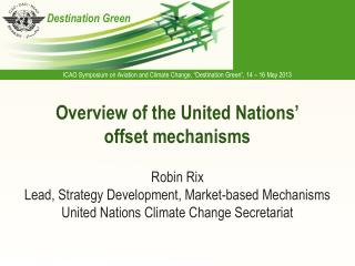 Overview of the United Nations' offset mechanisms