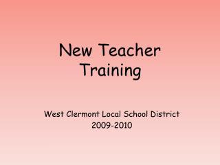 New Teacher Training