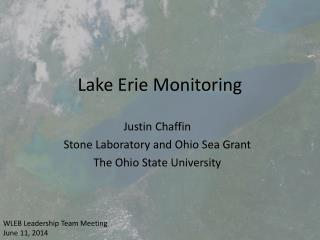 Lake Erie Monitoring