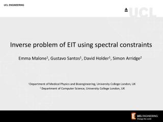 Inverse problem of EIT using spectral constraints