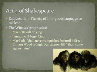Act 4 of Shakespeare
