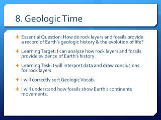 8. Geologic  Time