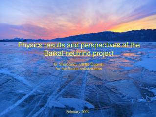Physics results and perspectives of the Baikal neutrino project