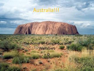 Australia!!!