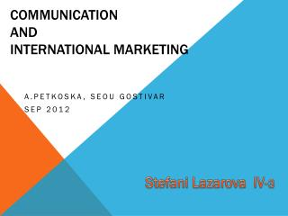 Communication and International Marketing