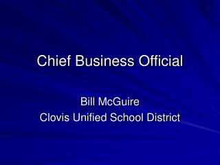 Chief Business Official