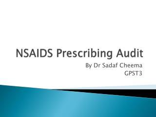 NSAIDS Prescribing Audit