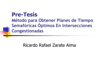 Ricardo Rafael Zarate Aima