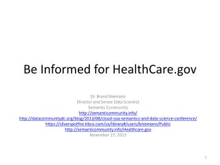 Be Informed for HealthCare