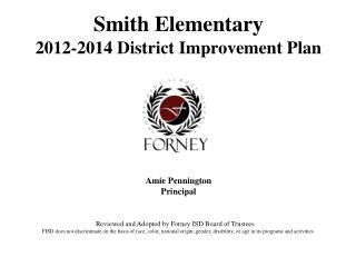 Smith Elementary 2012-2014 District Improvement Plan
