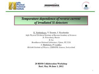 Temperature dependence of reverse current of irradiated Si detectors
