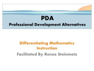 PDA Professional Development Alternatives
