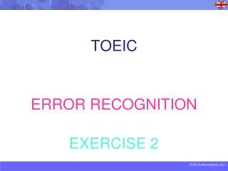 TOEIC ERROR RECOGNITION EXERCISE 2