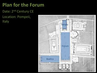 Plan for the Forum