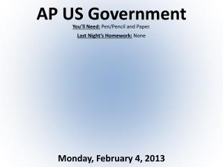 AP US Government