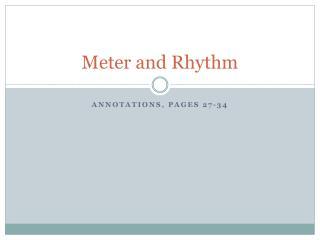 Meter and Rhythm