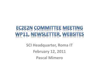 EC2E2N Committee Meeting WP11,  NewsLetter , Websites